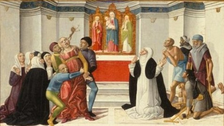 St. Catherine of Siena Exorcising a Possessed Woman